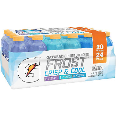Gatorade Sports Drinks Frost Variety Pack (20 fl. oz. bottles, 24 ct.)