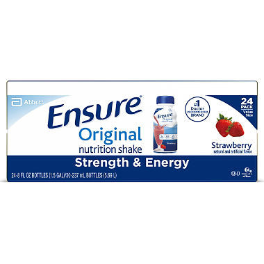 Ensure Original Nutrition Shake Strawberry Ready-to-Drink Meal Replacement Shakes?ÿ(8 fl. oz., 24 ct.)