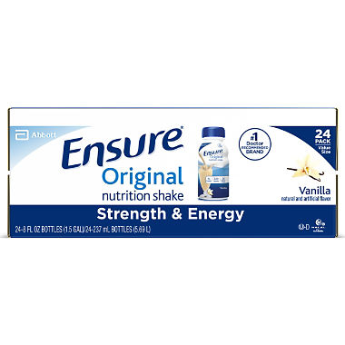 Ensure Original Nutrition Shake Vanilla Ready-to-Drink Meal Replacement Shakes (8 fl. oz., 24 ct.)