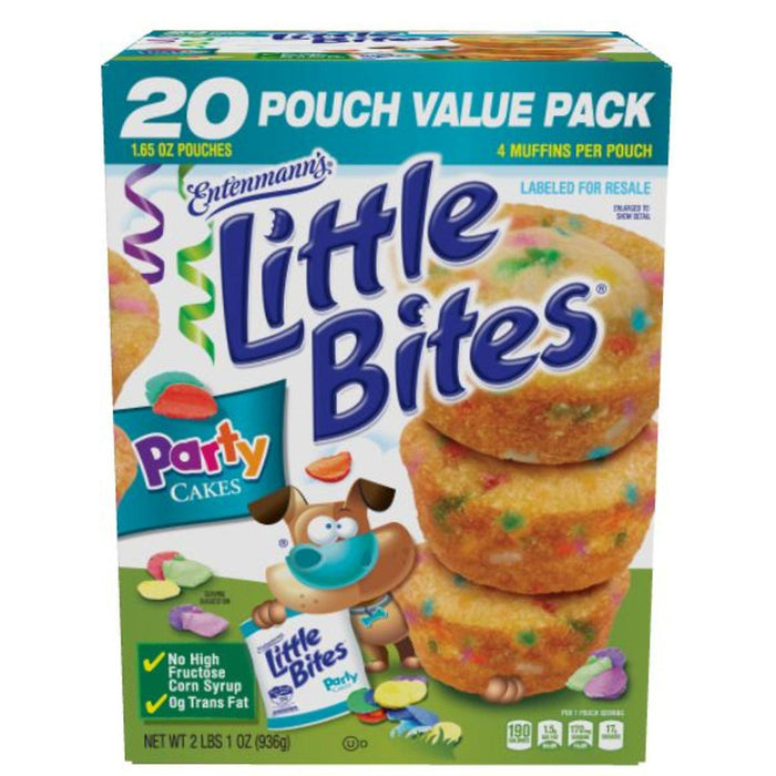 Entenmann's Little Bites Party Cake Muffins (1.65oz / 20pk)