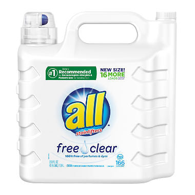 all 2X Ultra with Stainlifter Free & Clear (166 loads, 250 oz.)