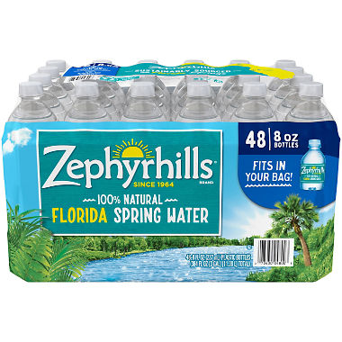 Zephyrhills 100% Natural Spring Water (8 oz. bottles, 48 pk.)