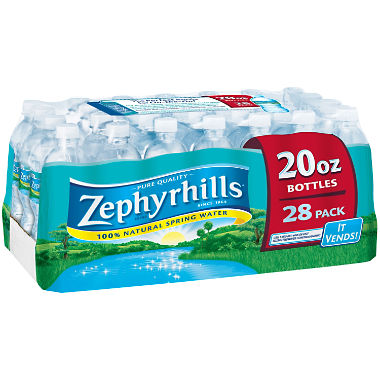Zephyrhills 100% Natural Spring Water (20 oz. bottles, 28 pk.)
