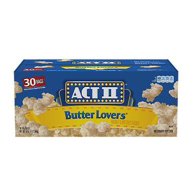 Act II Butter Lovers Microwave Popcorn (3 oz., 30 bags)