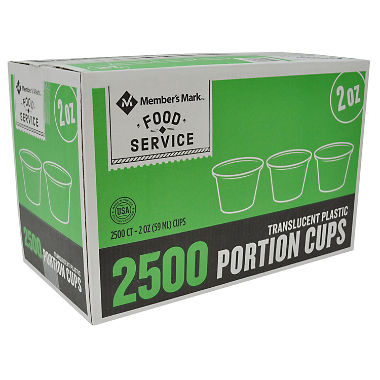 Member's Mark 2 oz. Portion Cups (2,500 ct.)