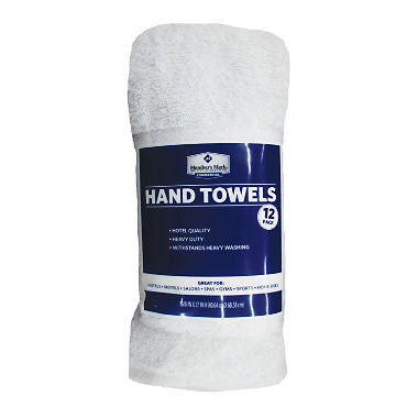 Member's Mark Commercial Hospitality Hand Towels, White, Set of 12