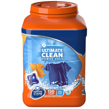 Member's Mark Ultimate Clean Power Pacs Laundry Detergent (130 ct.)