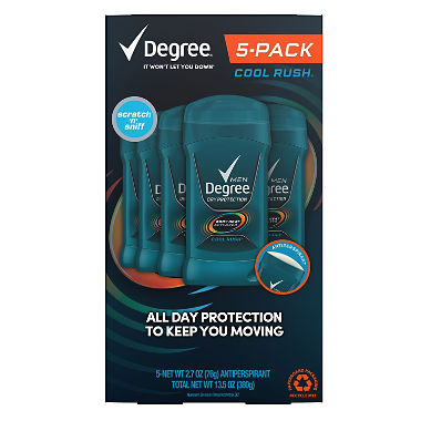 Degree Men Dry Protection Anti-Perspirant, Cool Rush (2.7 oz., 5 pk.)
