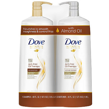 Dove Anti-Frizz Oil Therapy Shampoo & Conditioner (40 fl. oz., 2 pk.)
