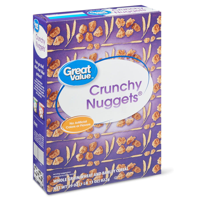 Great Value Crunchy Nuggets Cereal, 29 oz