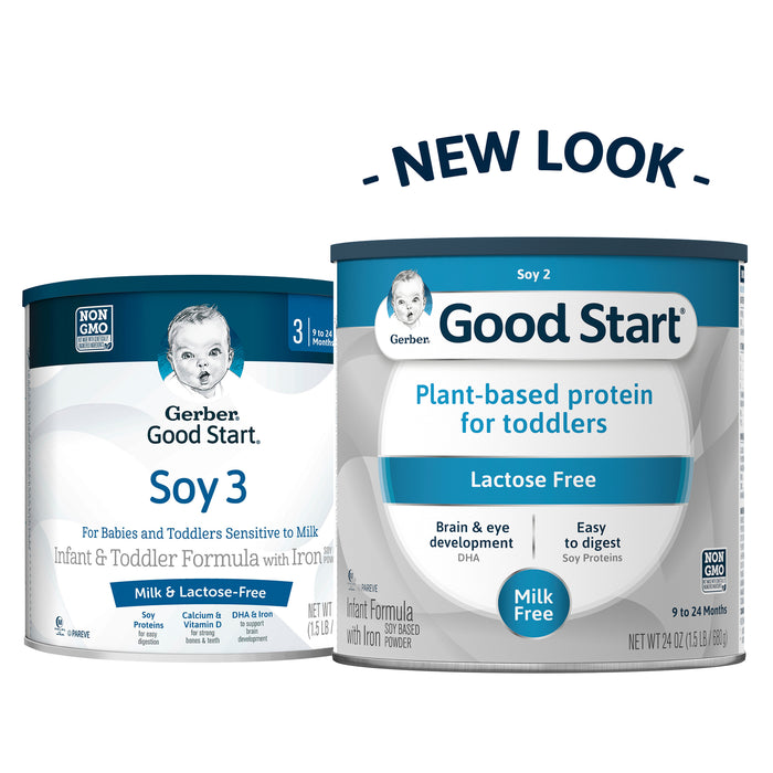 Gerber Good Start Soy Non-GMO Powder Infant and Toddler Formula, Stage 2, 24 oz.