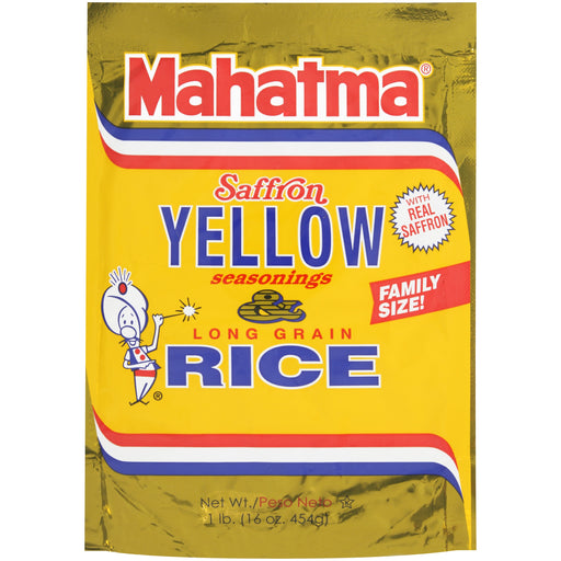 Mahatma Mixes, Saffron Yellow Seasonings and Long Grain Rice, 16-Ounce Bag