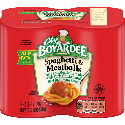 Chef Boyardee Spaghetti and Meatballs, 14.5 oz
