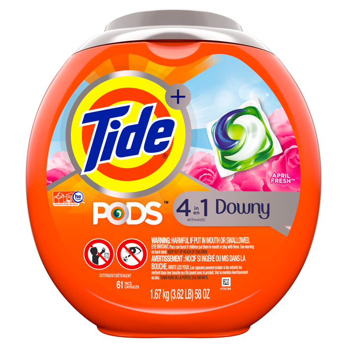 Tide Pods Plus Downy April Fresh, Laundry Detergent Pacs