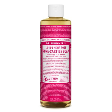 Dr. Bronner's Rose Pure-Castile Liquid Soap - 16 oz