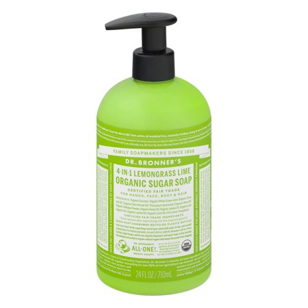 Dr. Bronner's Lemongrass Lime Sugar Pump Body Wash - 24 oz