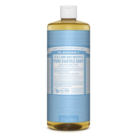 Dr. Bronner's Baby-Unscented Pure-Castile Liquid Soap - 32 oz