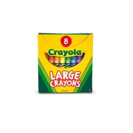 Crayola Large Size Classic Crayons 8 Count, Great For Small Hands
