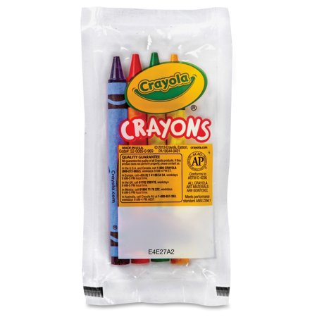 Crayola Classic Color Pack Crayons, Cello Pack, 4 Colors, 4 Count, 360 Packs