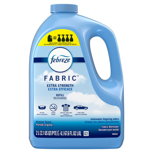 Febreze Extra Strength Odor-Eliminating Fabric Refresher Refill, Original Scent, 67.6 Fl Oz