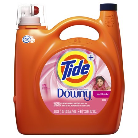 Tide Liquid Laundry Detergent with a Touch of Downy, April Fresh, 59 Loads 92 fl oz