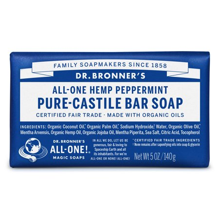 (2 pack) Dr. Bronner's Peppermint Bar Soap