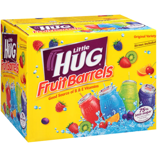 Little Hug Fruit Drink Barrels Original Variety Pack, 8 Fl. Oz., 40 Count