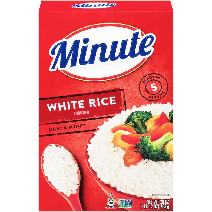 Minute Instant White Rice, 28-Ounce Box