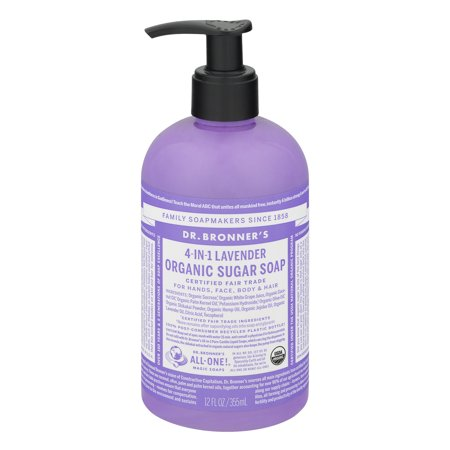 Dr. Bronner's Lavender Sugar Pump Body Wash - 12 oz