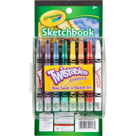 Crayola Mini Twistable Crayons And Paper Sketch Set, Great For Travel