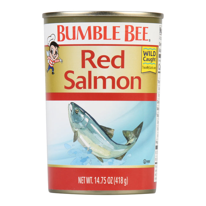 Bumble Bee Wild Alaska Red Salmon, 14.75 Ounce Can, Wild Caught, High Protein Food and Snacks