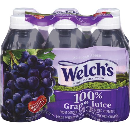 Welch's 100% Concord Grape Juice, 10 Fl. Oz., 6 Count
