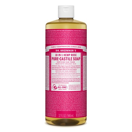 Dr. Bronner's Rose Pure-Castile Liquid Soap - 32 oz