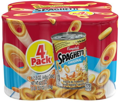 Campbell's SpaghettiOs Original, 15.8 oz, 4 Pack