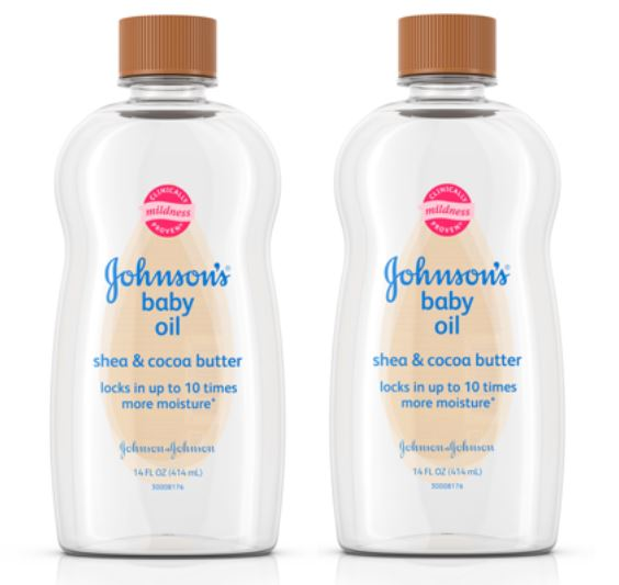 (2 pack) Johnson's Baby Oil with Shea & Cocoa Butter, 14 fl. oz