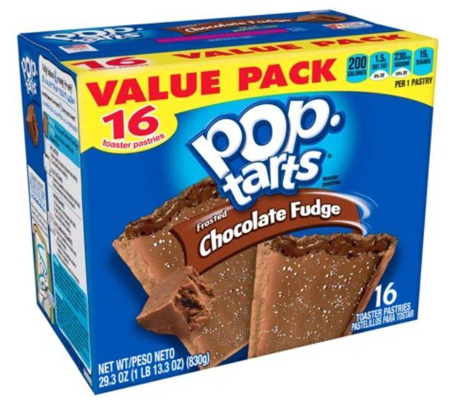 Pop-Tarts Frosted Chocolate Fudge, 16 Toaster Pastries(IN JAMAICA ALREADY)