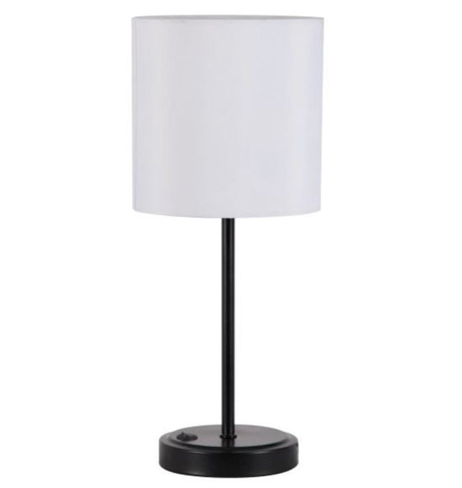 Mainstays Black USB Table Lamp