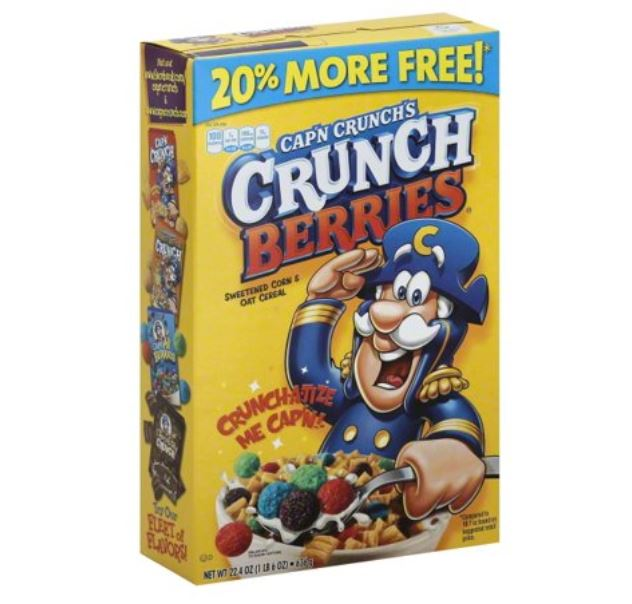 Captain Crunch Cap'n Crunch Crunchberries +20% Free