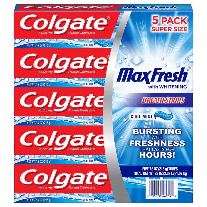 25 Packs of Colgate MaxFresh Toothpaste, Cool Mint (7.6 oz.) All Inclusive Wholesale Price