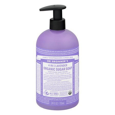 Dr. Bronner's Lavender Sugar Pump Body Wash - 24oz