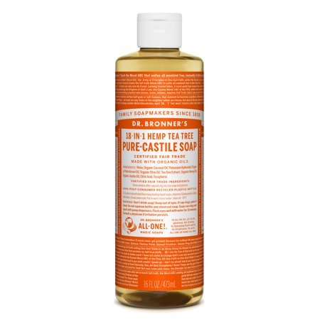 Dr. Bronner's Tea Tree Pure-Castile Liquid Soap - 16 oz
