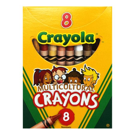 Crayola Multicultural Crayons, Reg Size, 8 Colors, Set Of 24 Boxes