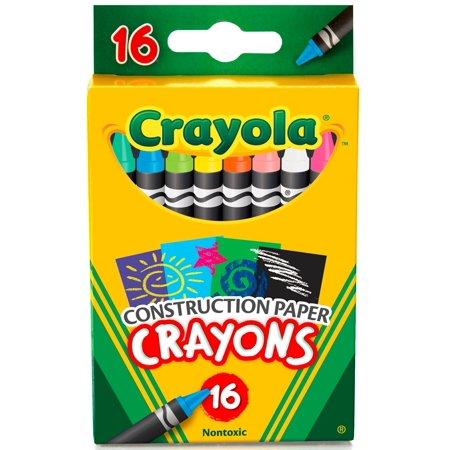 Crayola Construction Paper Crayons, 16 Count