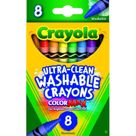 Crayola Ultra Clean Washable Crayons, 8 Count And Colors