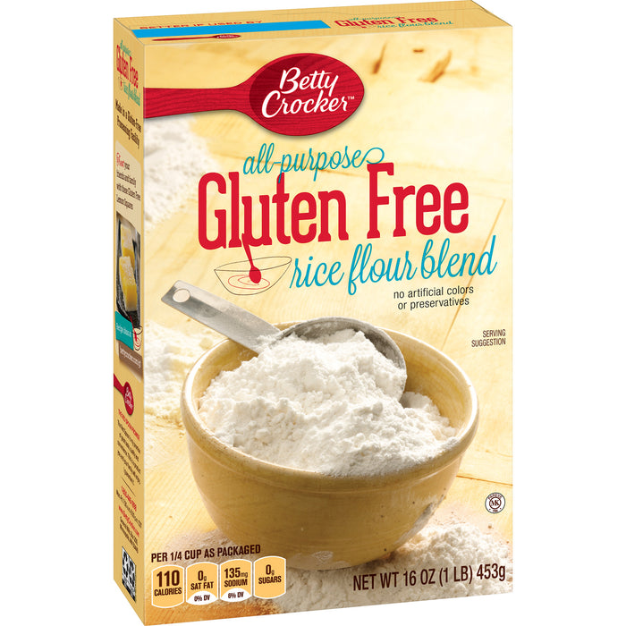 (2 Pack) Betty Crocker All Purpose Gluten Free Rice Flour Blend, 16 oz Box