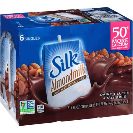 Silk Dark Chocolate Almond Milk, 8 fl oz, 6 Count