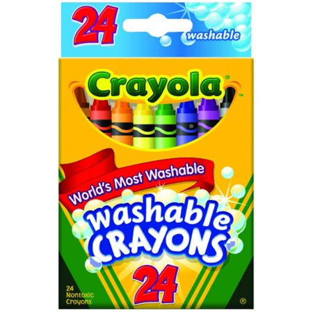 Crayola Washable Crayons 24 ea (Pack of 2)