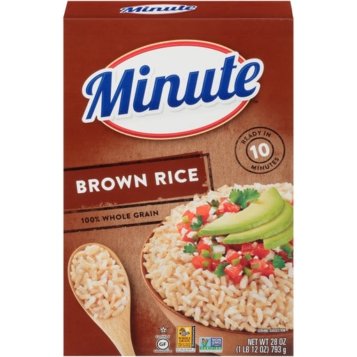 Minute Whole Grain Brown Rice, 28-Ounce Box