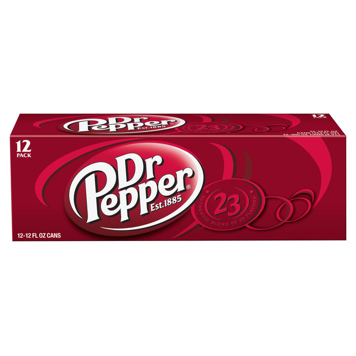 (2 Pack) Dr Pepper, 12 Fl Oz Cans, 12 Ct