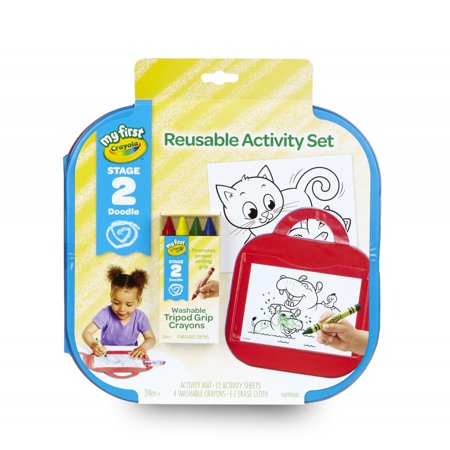 Crayola My First Reusable Activity Mat With Washable Crayons, Ages 2+